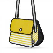 JumpFromPaper Stripe Shoulder Bag - Gelb