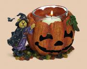 Boyds Bearstone Collection - Halloween Elvira Punkinbeary, Things That Go Bump Votive Holder
