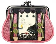 "Vendula London Clipper Coin Purse ""Piano Bar rose"""