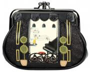 "Vendula London Clipper Coin Purse ""Piano Bar black"""