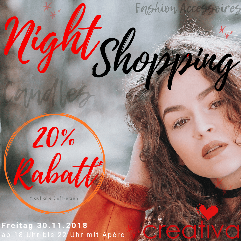 Night Shopping Aarau 2018 - Creativa 1001 Geschenkideen an der Pelzgasse 7