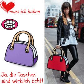 Damenhandtaschen von JumpFromPaper sind im Creativa an der Pelzgasse in Aarau erhältlich