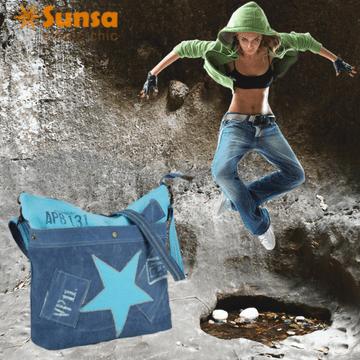 Sunsa Vintage Hobo Bag Blau - jetzt neu im Creativa in Aarau erhältlich