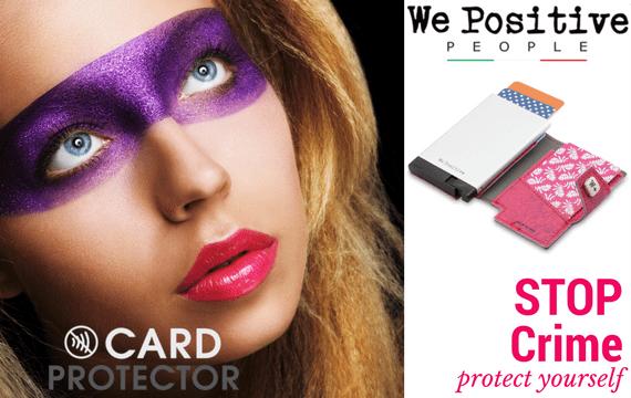 We Positive Card Protector schützt Ihre Kreditkarten - jetzt im Creativa in Aarau erhältlich