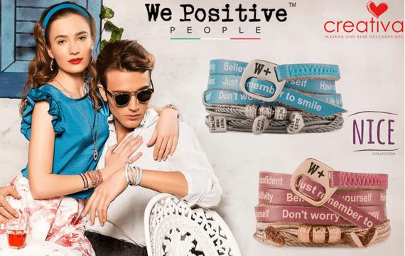 We Positive Nice Freundschaftsarmbänder - jetzt neu im Creativa in Aarau erhältlich