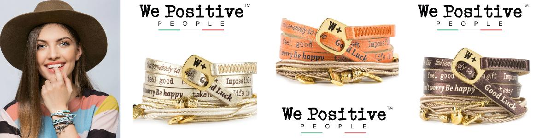 Freundschaftsband We Positive Nice Collection - mit kleinen Kordeln/Bändern und süssen Anhängern (Charmes)